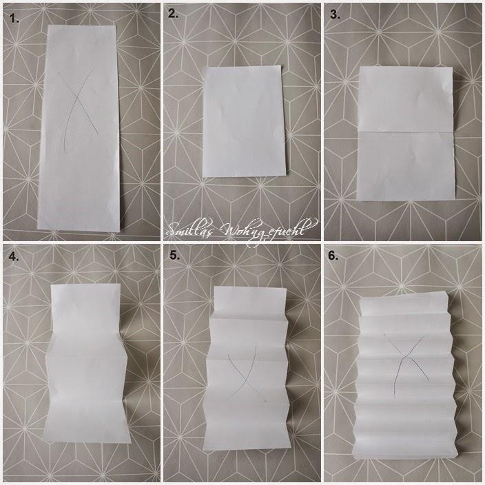 smillas wohngef hl diy origami plissee anh nger. Black Bedroom Furniture Sets. Home Design Ideas