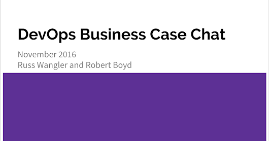 DevOps Business Cases - Chatting with Robert...
