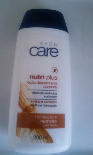 Achegue-se! Comprei e gostei: Loção desodorante corporal nutri plus, óleos de amêndoas e abacate - Avon care