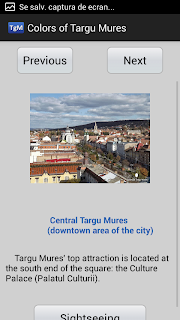 Android application - Colors of Targu Mures