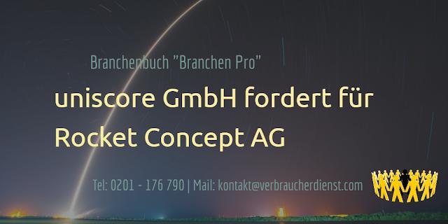 """Titelbild: Rocket Concept AG  Rechnung für das Verzeichnis """"Branchen Pro"""""""