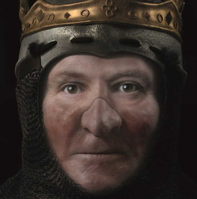 Digitally reconstructed face of Scotland's Robert the Bruce unveiled