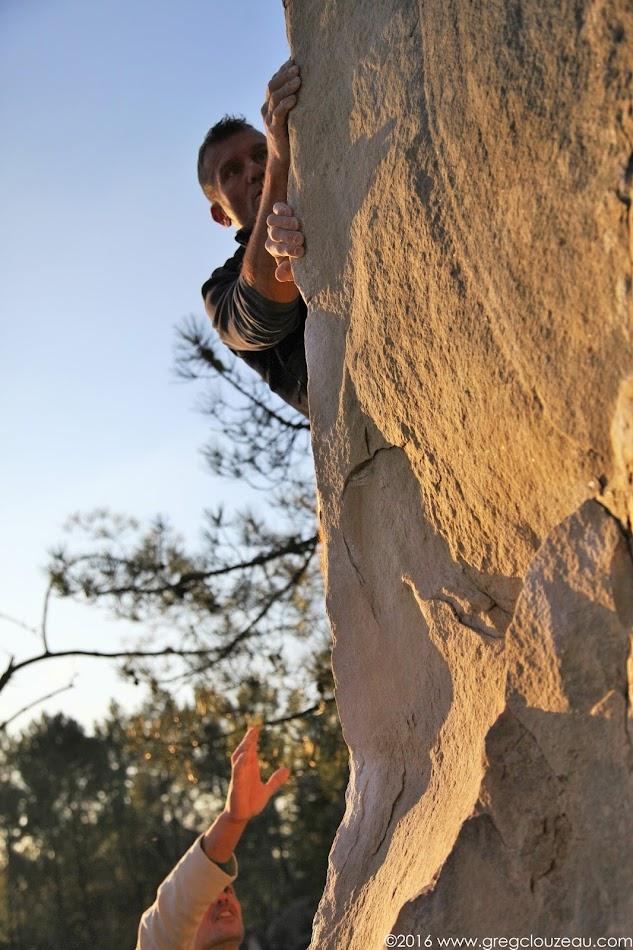 Steph dans l'Angle de marbre, Rocher Fin