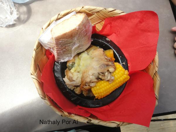 representação de uma típica refeição Maori