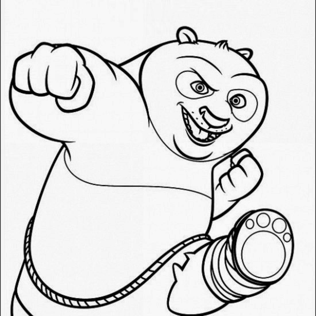 Kung Fu Panda Colour Drawing Hd Wallpaper