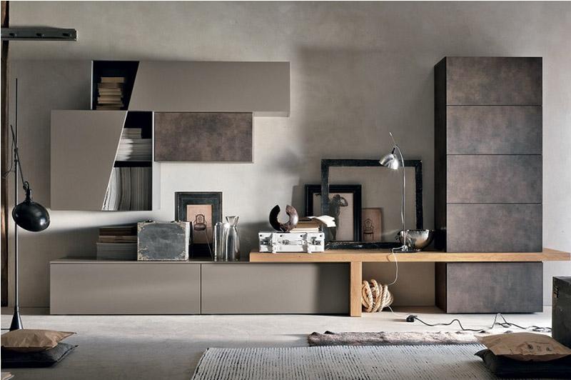 Scrivania attrezzata in vendita in arredamento e casalinghi: Il Soggiorno Moderno Si Arreda Con Le Pareti Attrezzate Dettagli Home Decor