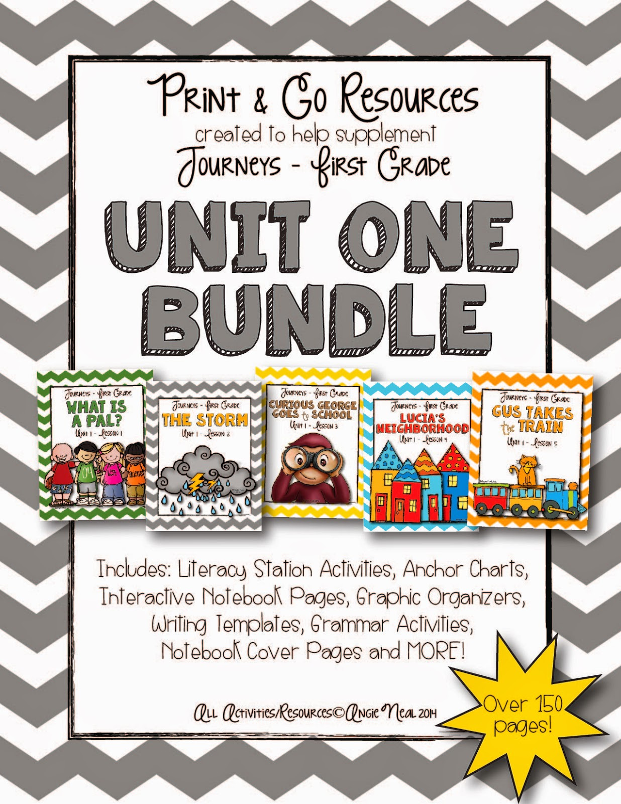 Fall Into First Journeys Unit 1 Bundle