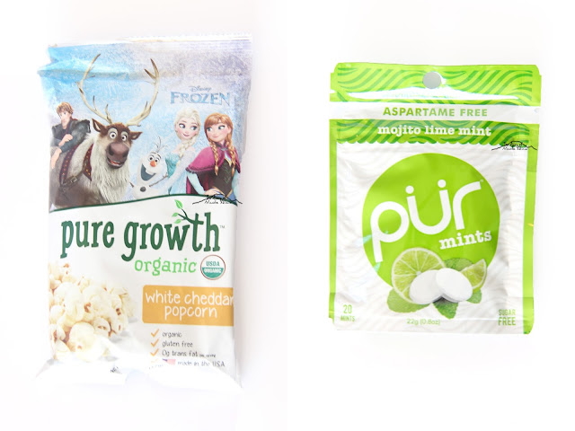 Pure Grow Organic White Cheddar Popcorn Mojito Lime Mint Pur Mints