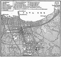 Peta Batavia (sekarang Jakarta) tahun 1888.