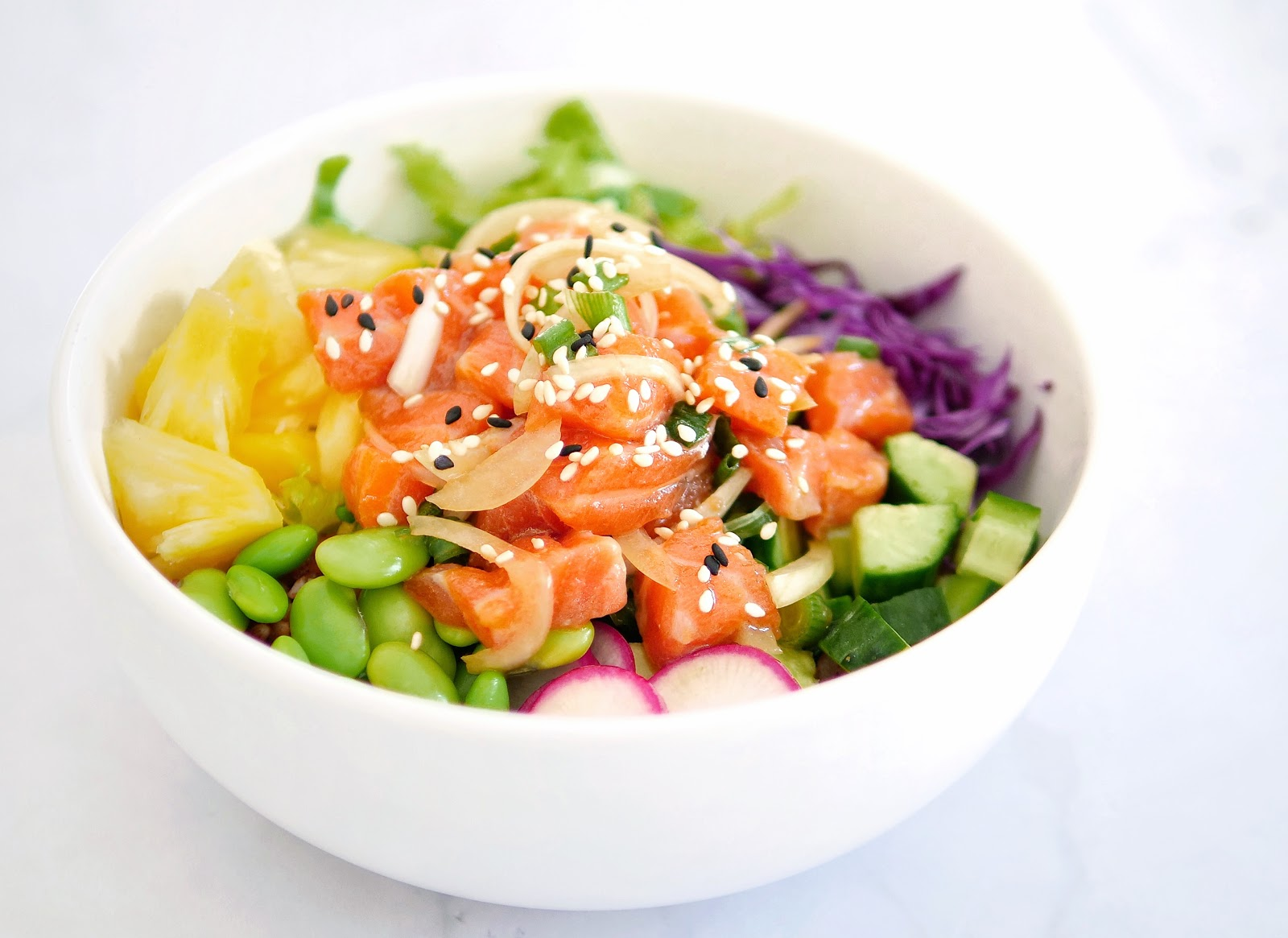 Homemade Poke Bowl Salmon Poke Recipe Heytheresia Indonesian Food Travel Blogger