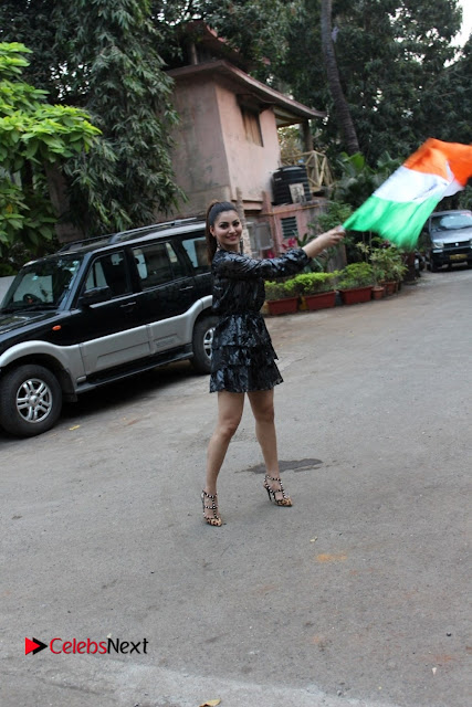Bollywood Actress Model Urvashi Rautela Stills in Black Dress at Republic Day Celebrations  0003.jpg