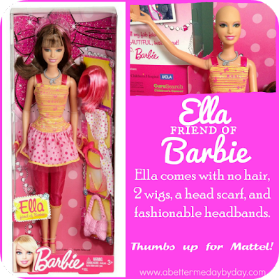 Ella, the 'bald Barbie'