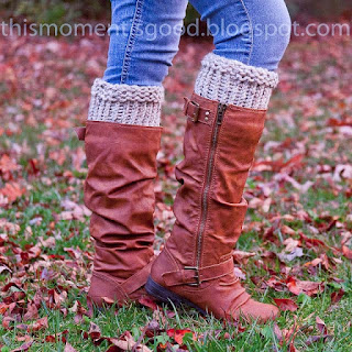 Loom knit rustic boot toppers cuffs liners pattern free