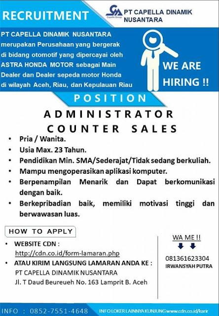 Lowongan Kerja di PT Capella Dinamik Nusantara