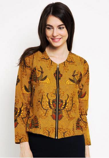 Model Baju Batik Atasan Wanita Lengan Panjang dan Pendek Modern