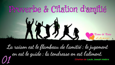 Proverbe & Citation d'amitié N°01