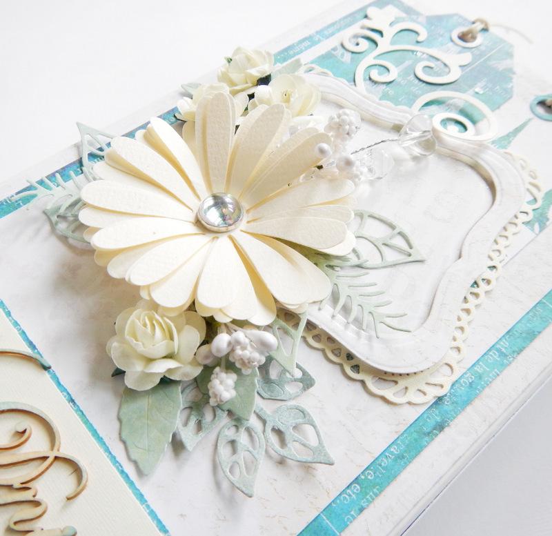 Pudełko handmade na kartkę ślubną