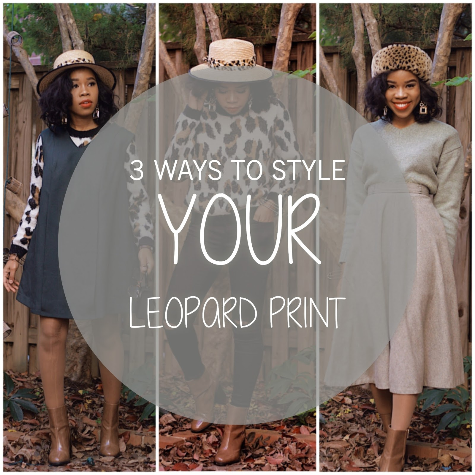 TIPS ON HOW TO STYLE YOUR LEOPARD PRINT/ GIVEAWAY TIP