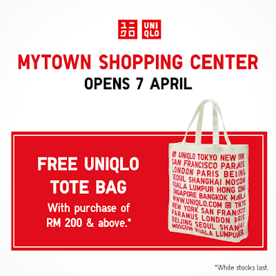 MyTOWN Shopping Center FREE UNIQLO tote bag