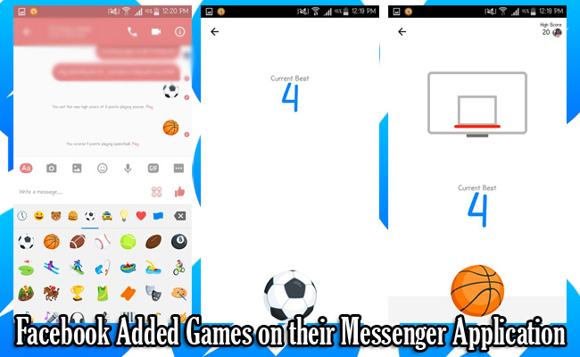 Facebook Added Games on their Messenger Application