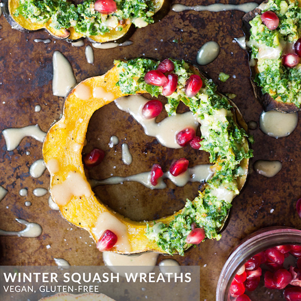Winter Squash Wreaths by Food By Mars