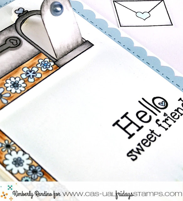 Mailbox Card by Kimberly Rendino | CAS-ual Fridays Stamps | handmade card | happy mail | kimpletekreativity.blogspot.com
