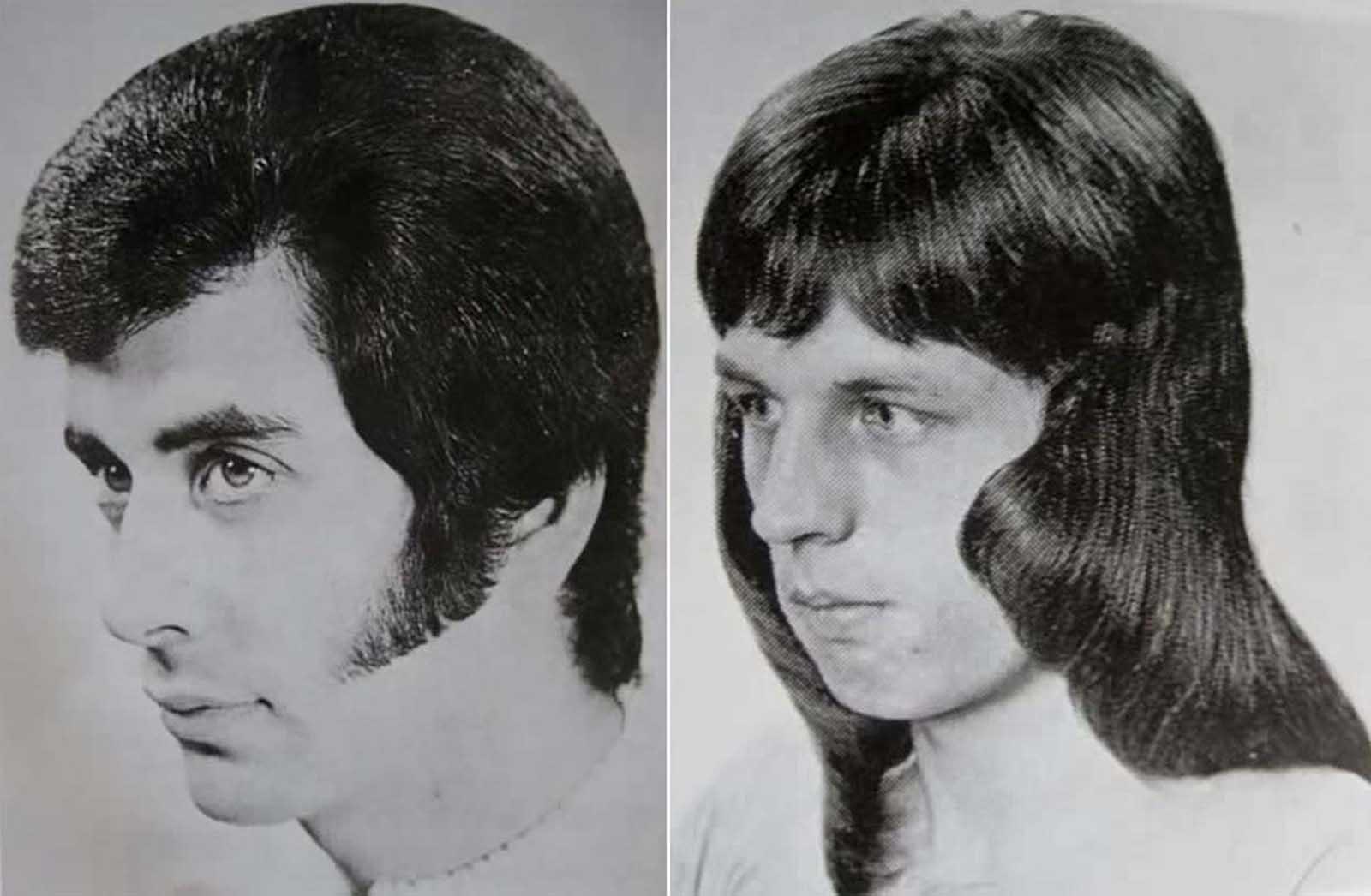 Peinado masculino romántico de las décadas de 1960 a 1970