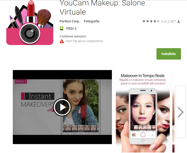 YouCam Makeup: Salone Virtuale screen-shot