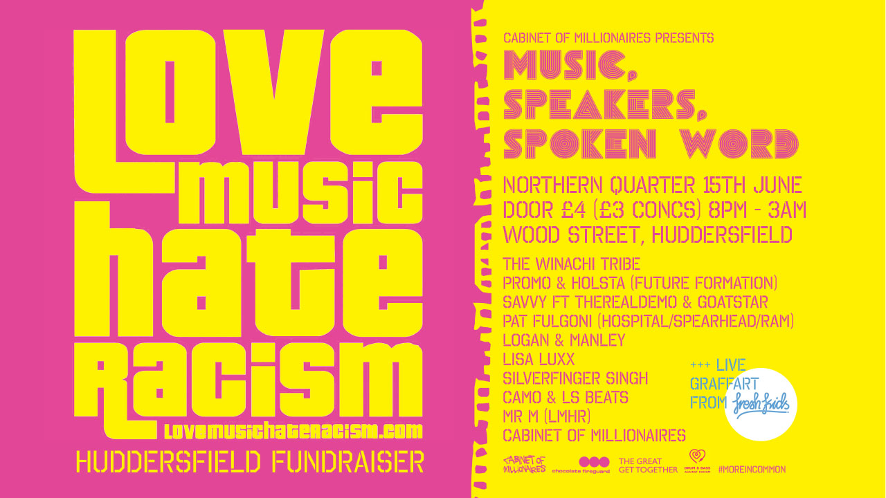 Yorkshire Music Collective: Love Music Hate Racism 15th June
