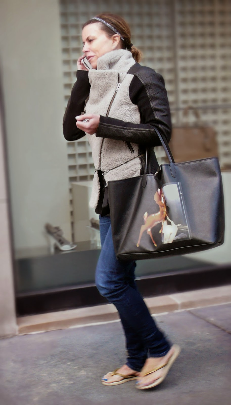 b992a6a1de Bambi spotted on Oak Street. Cartoon meets high art in Givenchy s Bambi  Antigona Tote in coated canvas