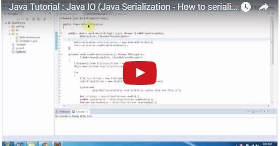 Java ee java tutorial java io java serialization how for Pool design pattern java