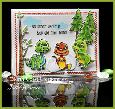 North Coast Creations stamp Sets: You Are Dino-Mite, Something Marvelous, Happy Camper, Who Loves You?, North Coast Creations Custom Dies: Dinosaur, Our Daiy Bread Designs Custom Dies: Double Stitched Rectangles, Egg, Our Daily Bread Designs Paper Collection:Birthday Brights