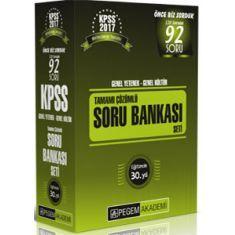 Pegem Akademi KPSS Genel Yetenek Genel Kültür Tamamı Çözümlü Soru Bankası Seti (2017)
