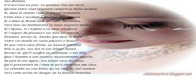 Poème sur la vie des femmes