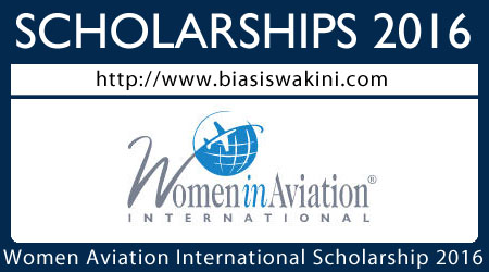 Women in Aviation International Scholarship 2016