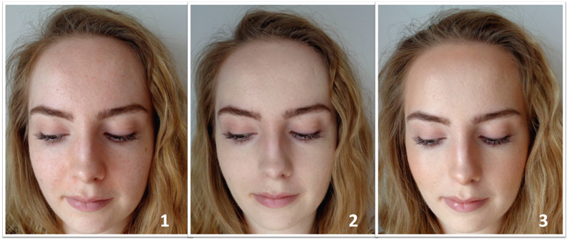 PRIMER NARS SHEER GLOW before after