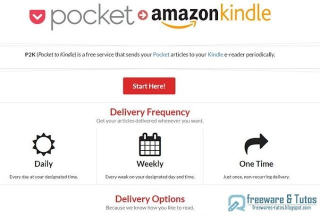 P2K : pour envoyer des articles de Pocket sur votre Kindle