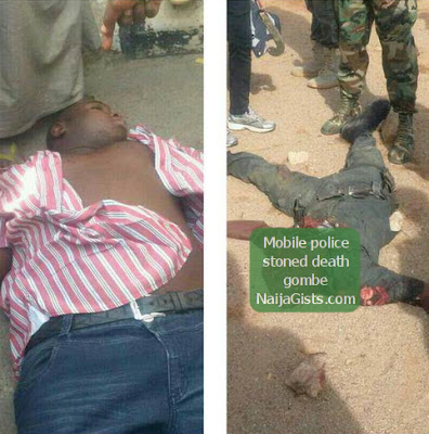 mopol stoned to death gombe