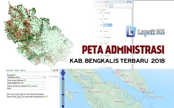 SHP Shapefile Provinsi Riau dari sumber Ekstrak BBBike Update 20 Maret 2019