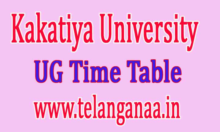 Kakatiya University KU UG Supply TimeTable 2016 Download
