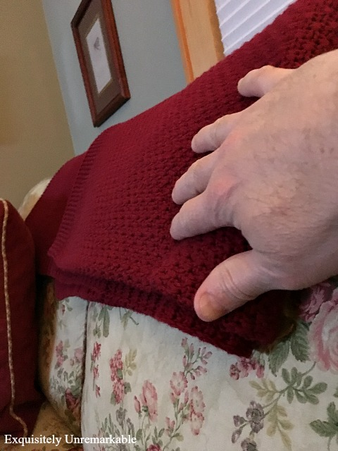 Red Cotton Throw