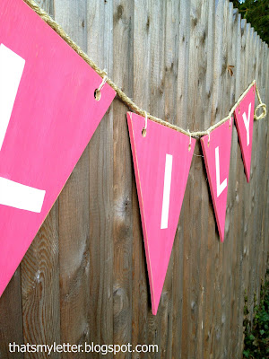 diy personalized giant wood bunting