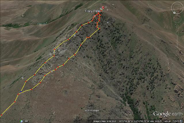 Frary Peak trail map Utah, Antelope Island State Park