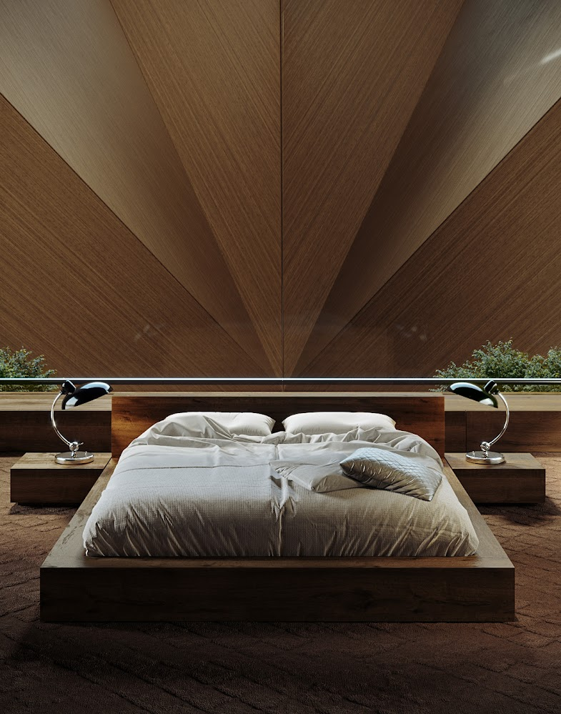 futuristic-coming-to-a-point-feature-bedroom-wood-accent-wall-ideas