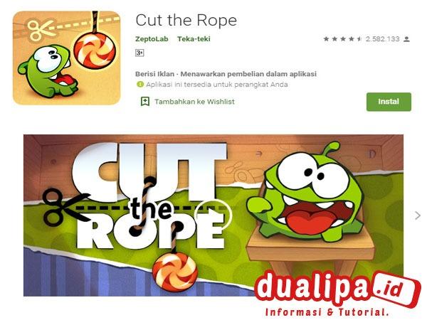 Game Pengetahuan Untuk Anak Terbaik Cut the Rope