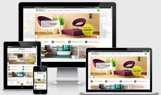 Thiết kế template blogspot thiết kế nội thất Megashop