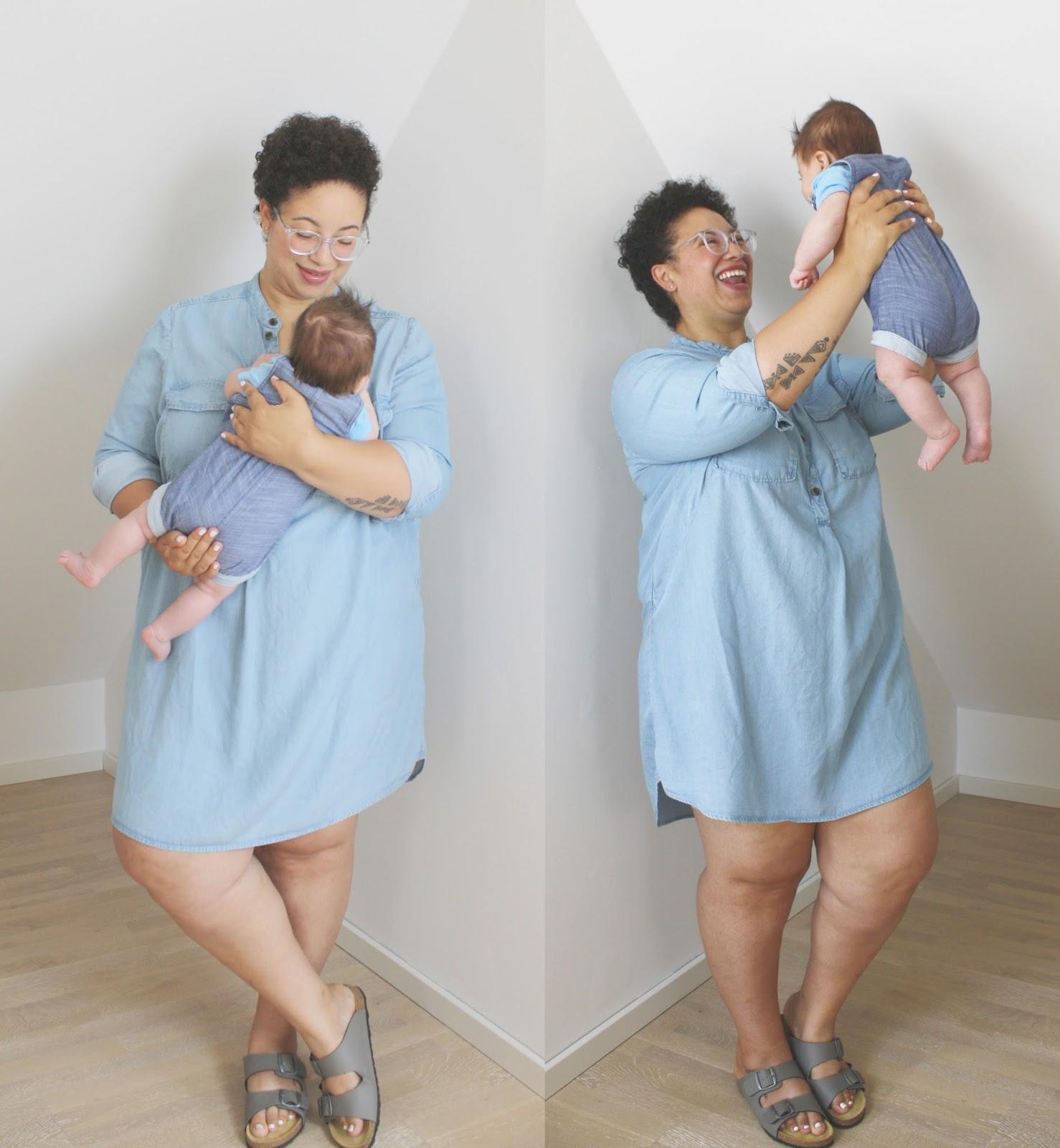 mutter kind outfit denim cookies chaos n c est la vie. Black Bedroom Furniture Sets. Home Design Ideas