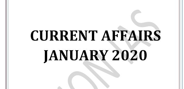 Vision IAS Current Affairs January 2020 pdf