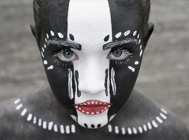Royalty Free Karton Maske Boyama Ornekleri Korku Ikoku