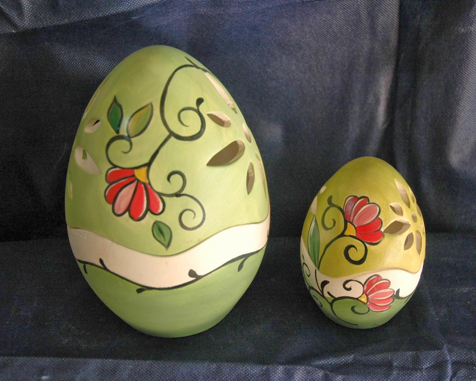 Uova Di Pasqua Ceramica.Il Mondo Di Dea Uova Di Pasqua Dipinte A Mano